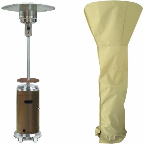 Hanover BTU Steel Propane Patio Heater & Cover Perspective: front