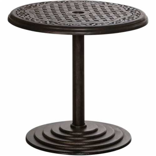 Hanover Round Umbrella Side Table - Bronze Perspective: front