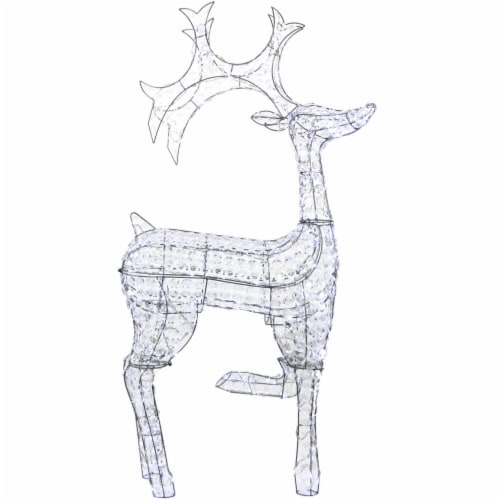 Fraser Hill Far, Pre-Lit Crystal Reindeer Perspective: front