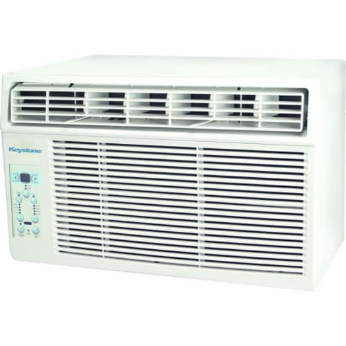 Keystone 8000 BTU Window Mounted Air Conditioner with Follow Me LCD Remote Control Perspective: front