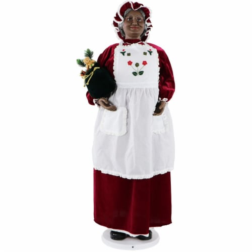 Fraser Hill Farm African American Dancing Mrs. Claus Doll Perspective: front