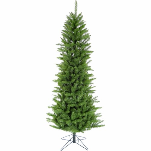 Christmas Time Slim Artificial Christmas Tree - Green Perspective: front