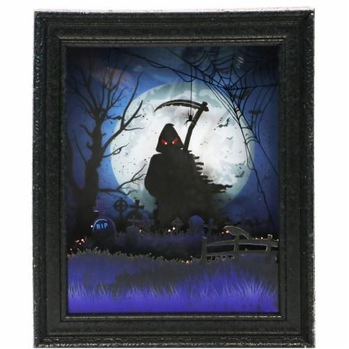 Haunted Hill Farm Grim Reaper Shadowbox - Black Perspective: front