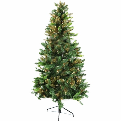 Fraser Hill Farm Camo Christmas Tree with Clear LED Lighting Perspective: front