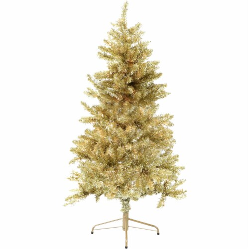 Fraser Hill Farm Christmas Tree - Gold Perspective: front