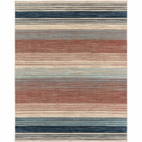 Hanover Indoor/Outdoor Striped Rug Perspective: front