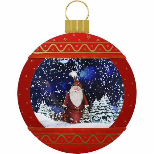 Fraser Hill Farm Christmas Ornament Shadowbox - Red Perspective: front