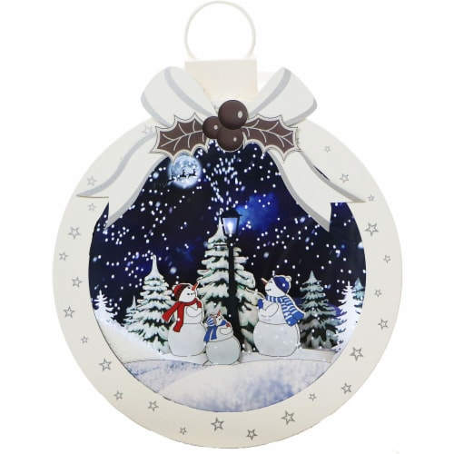 Fraser Hill Farm Let It Snow Christmas Ball Shadowbox Perspective: front