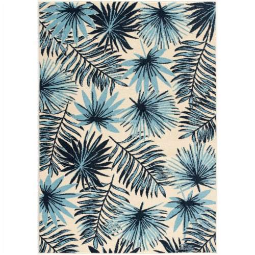 Hanover Indoor/Outdoor Tropical Palm Leaf Rug Perspective: front