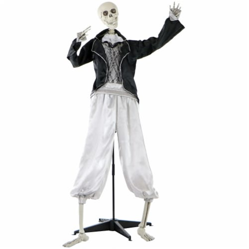 Haunted Hill Farm Animated Talking Skeleton Groom Prop Perspective: front