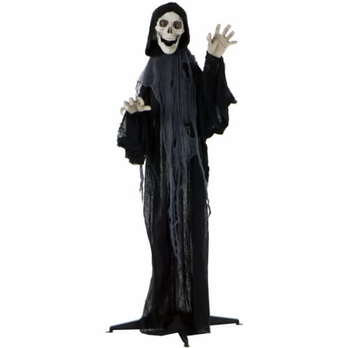 Haunted Hill Farm Animated Grim Reaper Prop Perspective: front
