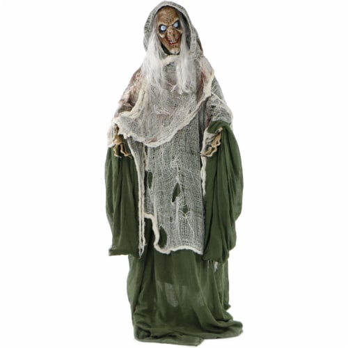 Haunted Hill Farm Talking Evil Witch Prop Perspective: front