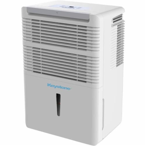 Keystone 22-Pint Dehumidifier with Electronic Controls in White Perspective: front