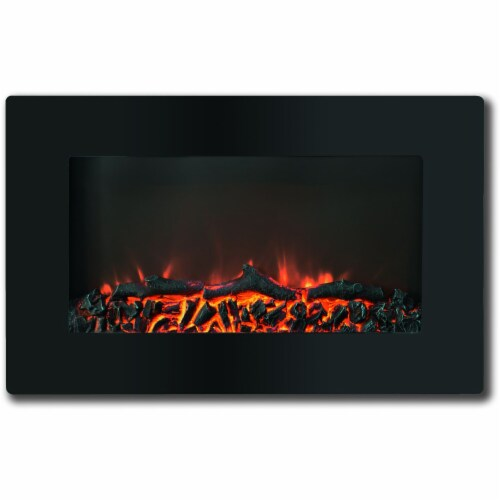 Cambridge Callisto Wall Mount Electric Fireplace Perspective: front