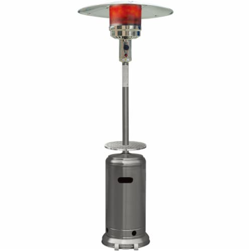 Hanover BTU Stainless Steel Propane Patio Heater - Silver Perspective: front