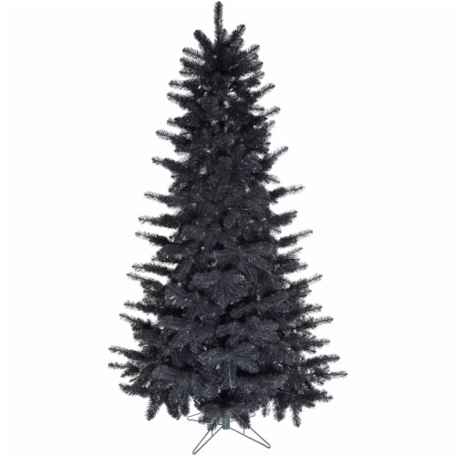 Fraser Hill Farm 7-ft Festive Tinsel Tree - Black Perspective: front