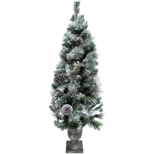 Fraser Hill Farm 4-ft Christmas Flocked Porch Tree Perspective: front