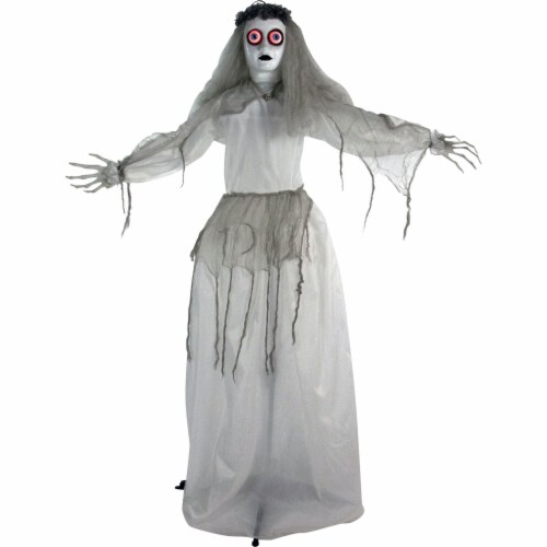 Haunted Hill Farm Animatronic Bride Halloween Decoration Perspective: front