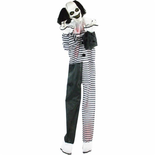 Haunted Hill Farm Life-Size Animatronic Clown Halloween Decoration Perspective: front
