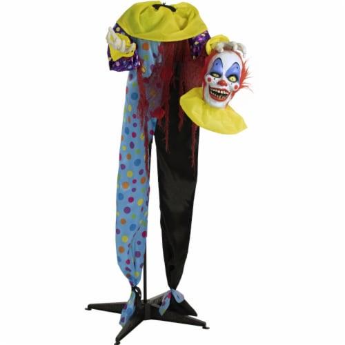Haunted Hill Farm Animatronic Clown Halloween Decoration Perspective: front