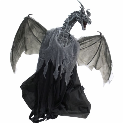 Haunted Hill Farm Animatronic Dragon Halloween Decoration Perspective: front