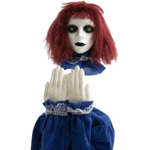 Haunted Hill Farm Animatronic Haunted Doll Halloween Decoration Perspective: front
