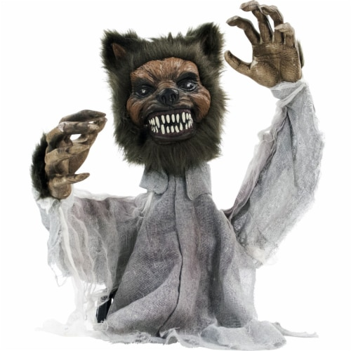 Haunted Hill Farm Animatronic Werewolf Halloween Decoration Perspective: front
