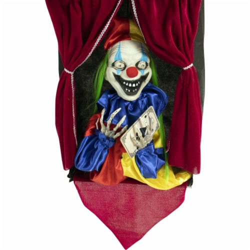 Haunted Hill Farm Animatronic Clown Halloween Decoration Perspective: front
