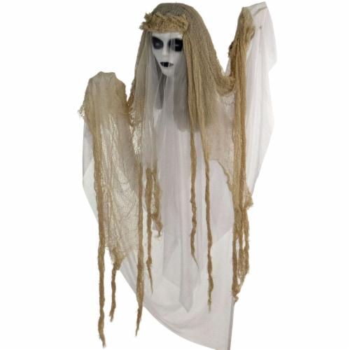 Haunted Hill Farm Animatronic Bride Halloween Decoration Perspective: front