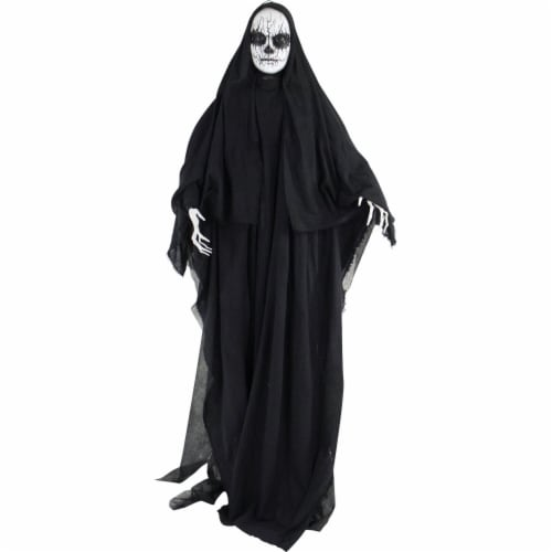 Haunted Hill Farm Animatronic Reaper Halloween Decoration Perspective: front