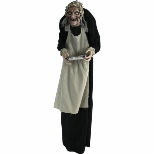 Haunted Hill Farm Animatronic Zombie Maid Halloween Decoration Perspective: front