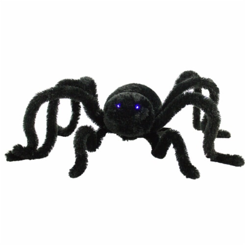 Haunted Hill Farm Animatronic Crawler Spider Halloween Decoration Perspective: front