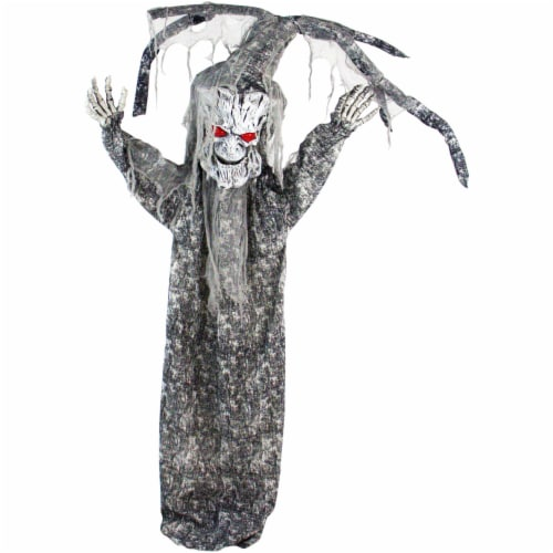 Haunted Hill Farm Animatronic Tree Man Halloween Decoration Perspective: front