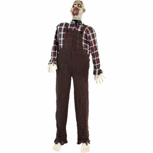 Haunted Hill Farm Animatronic Zombie Halloween Decoration Perspective: front