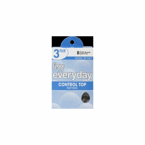L'Eggs Everyday Control Top Pantyhose - Off Black Perspective: front
