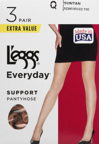 L'Eggs Everyday Control Top Support Pantyhose - Suntan Perspective: front