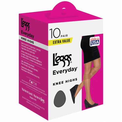 L'Eggs Everyday Knee High Pantyhose - Suntan Perspective: front