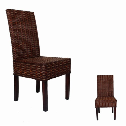 Stylishly Designed Rattan Chair, Brown Perspective: front