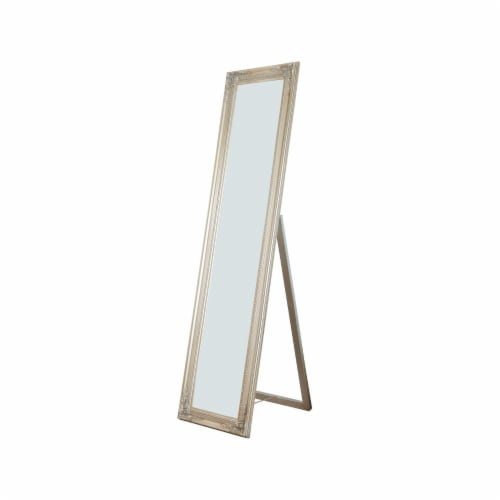 Benzara Cecilia Full Length Standing Mirror - Champagne Perspective: front