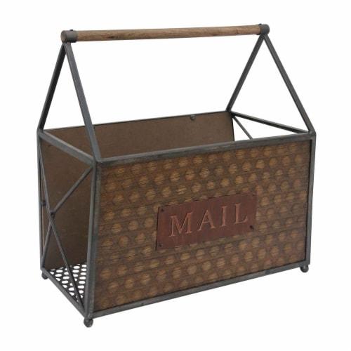 BenzaraMetal Frame Mail Basket Perspective: front