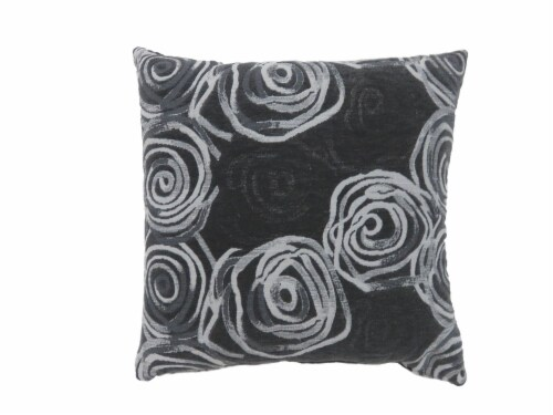 Benzara Contemporary Throw Pillow - Black/White Perspective: front