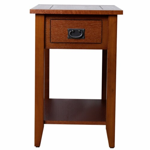 Benzara Wooden Side Table Perspective: front