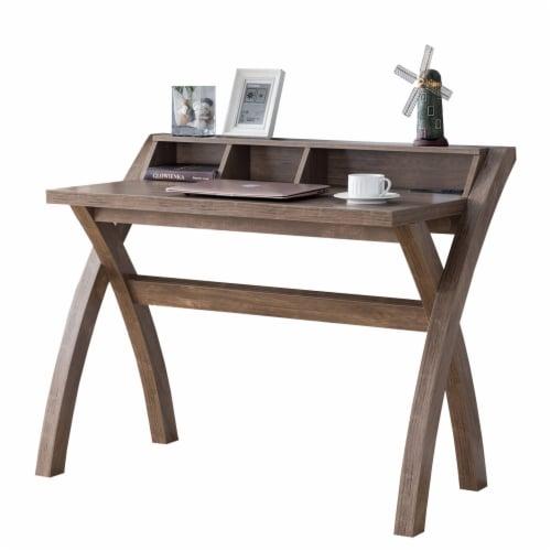 Benzara Multifunctional Wooden Desk - Brown Perspective: front