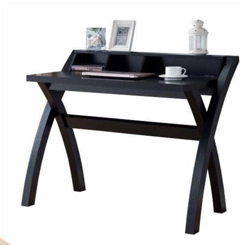 Benzara Multifunctional Wooden Desk - Black Perspective: front