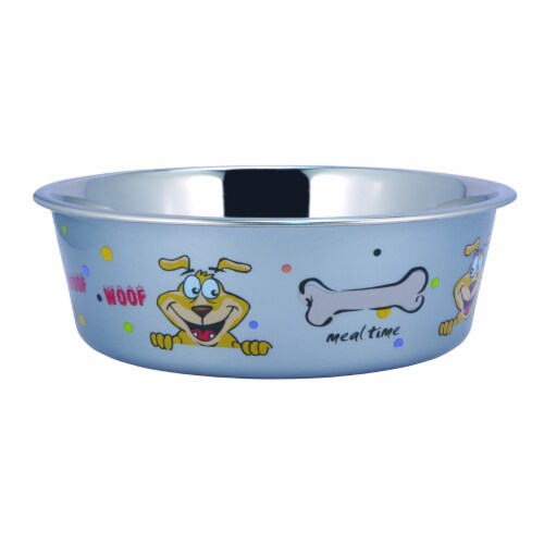 Saltoro Sherpi Multi Print Stainless Steel Dog Bowl By Boomer N Chaser (Set of 6) Perspective: front