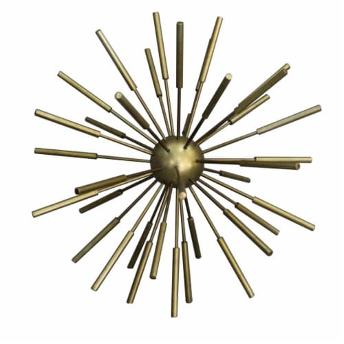 Benzara Metal Decor Spike Decorative Sputnik Perspective: front