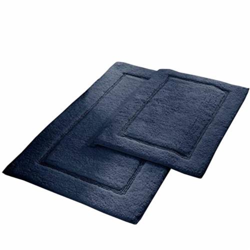 Saltoro Sherpi Nantes 2 Piece Fabric Bath Mat with Non Slippery Back The Urban Port, Dark Perspective: front