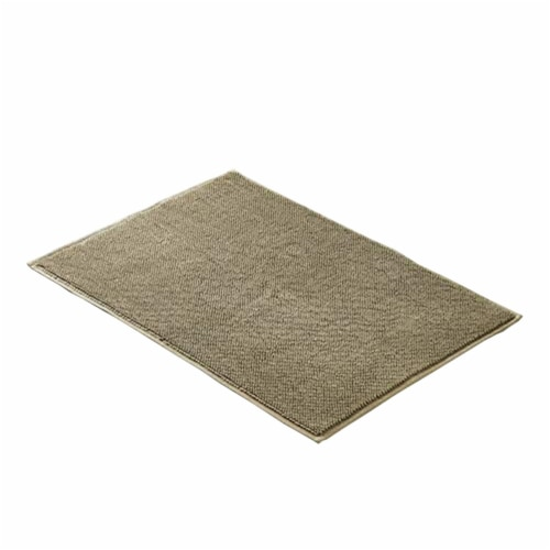 Saltoro Sherpi Salzburg Fabric Reversible Bath Rug with Quick Drying Loops The Urban Port, Perspective: front