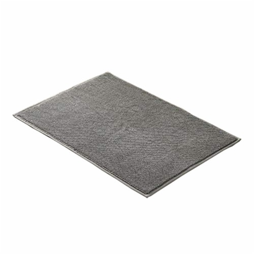 Saltoro Sherpi Salzburg Reversible Bath Rug with Quick Drying Loops The Urban Port, Charcoal Perspective: front