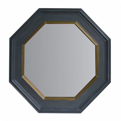 Benzara Octagonal Wall Mirror - Gray Perspective: front